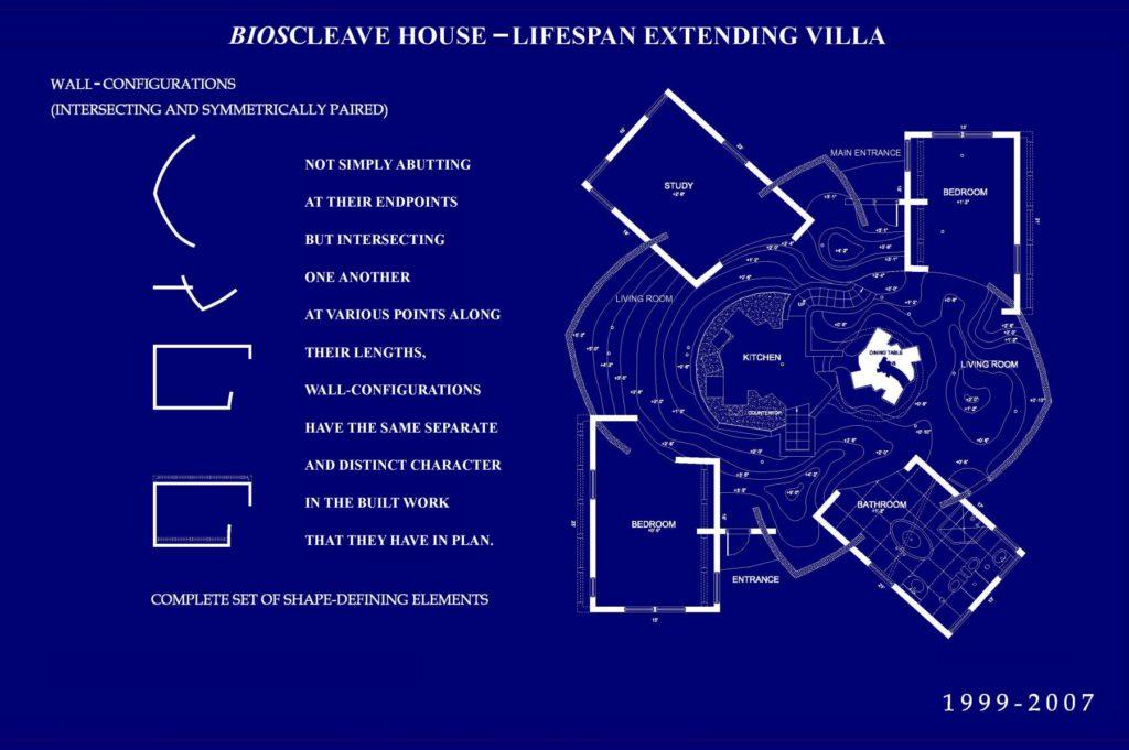 Bioscleave House (Lifespan Extending Villa), Architectural plan
