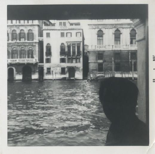 Polaroid of Arakawa in Venice (Jun 1969)