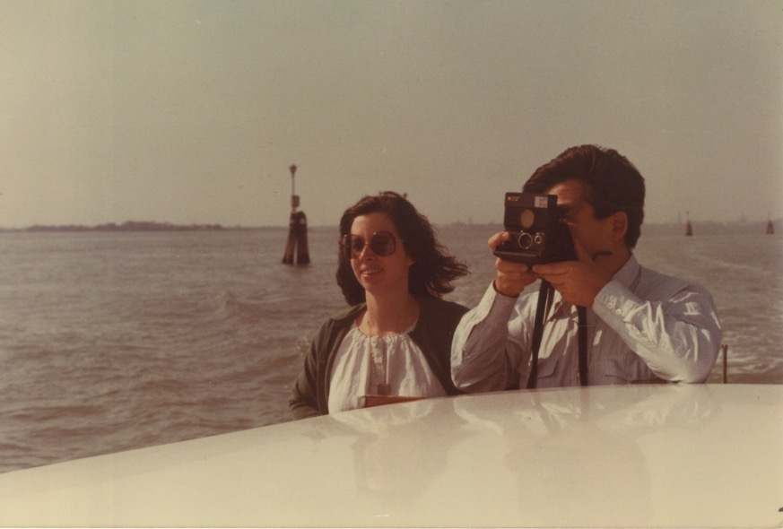 Arakawa and Madeline on a boat in Venice